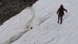 Mont Blanc - Crossing the Grand Couloir 2013 (Rolling Stones)