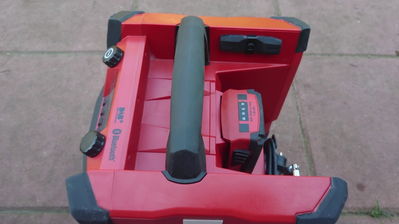 hilti baustellenradio rc 4/36 review - youtube