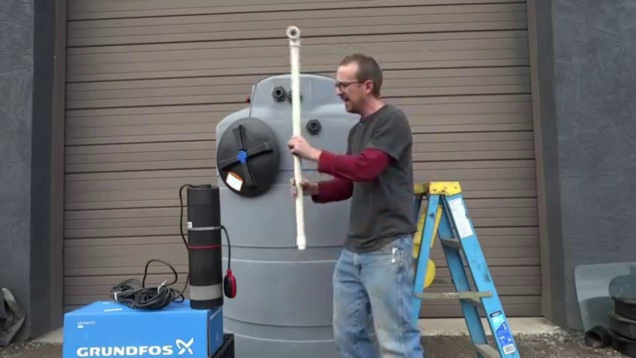 Easy Cistern Pump Installation For Rain Harvesting Tanks
