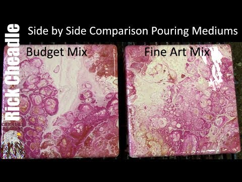 Budget Pouring Medium Vs  Fine Art Pouring Medium Side By Side Comparison