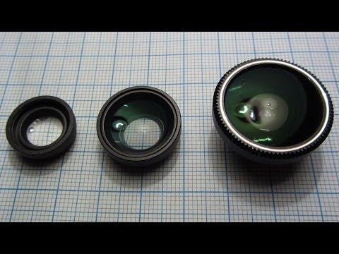 Макро, широкоугольный и объектив рыбий глаз для телефона