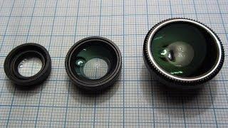 Макро, широкоугольный и объектив рыбий глаз для телефона(, 2014-04-03T11:41:15.000Z)