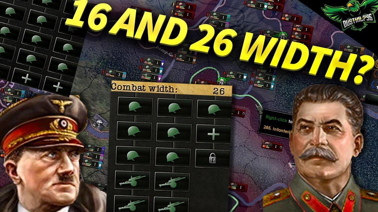 HOI4 16 and 26 Width Best? (Hearts of iron iv Tutorial Guide)