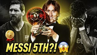 MESSI only the 5TH BEST player in the WORLD?!