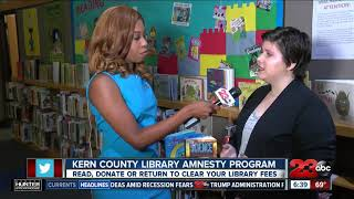 Clear your library fees at any Kern County Library branch