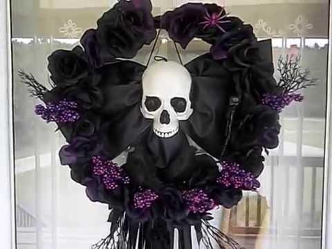 Halloween wreaths - YouTube