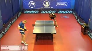 Настольный теннис матч 210918   14  Пинаев Алексей Сазонов Александр 3-4 место