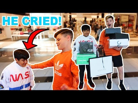 SURPRISING A FAN WITH A $5,000 SHOPPING SPREE! *EMOTIONAL*