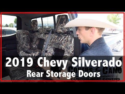 2019 Chevy Silverado Rear Storage Seat Covers