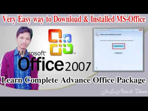How to download and install MS office 2007 100% Full version 2018
