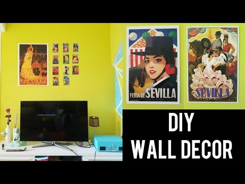 🇪🇸 DIY WALL DECOR IDEA - EASY & CHEAP | SEVILLA INSPIRED | DIY TRAVEL ROOM DECOR IDEAS