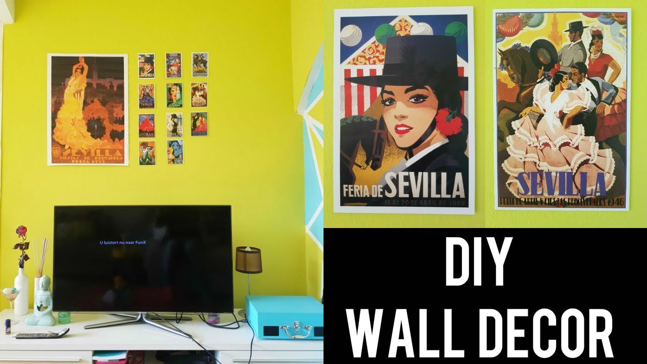 🇪🇸 DIY WALL DECOR IDEA - EASY & CHEAP | SEVILLA INSPIRED | DIY ...