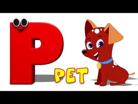 Phonics Letter- P song | Five Little Penguins | Kids Tv Nursery Rhymes For Children | Cartoon Songs