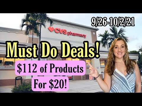 CVS Must Do Deals – Get $25 of products for $4.75 Cash Cost! 2 Easy FREEBIES 9/26-10/2/21