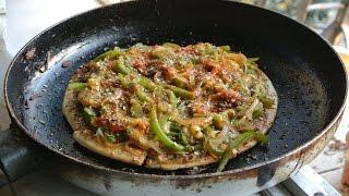 Vegan Pan Pizza Recipe (indian Style)