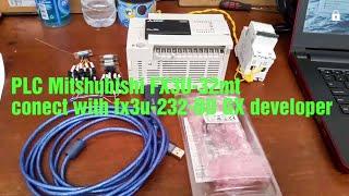 PLC MITSUBISHI FX3U-32MT CONECT TO PC USE FX3U-232-BD GX Developer