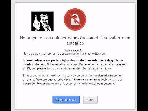 solucionar error SSL chrome certificados windows xp sp2 sin actualizar no programas Twitter