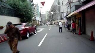 西成警察署あたりから~新今宮駅前まで