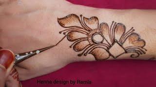 easy back hand mehndi design || mehndi designs easy | new mehndi design| simple and beautiful mehndi