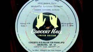 Beethoven / Artur Balsam, 1952: Piano (Violin) Concerto in D major, Op. 61a - Complete