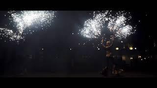 Пиротехническое фаер шоу с огненным интерактивом на свадьбу.