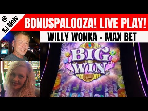 Willy Wonka Dream Factory - Max Bet - Live Play - Bonus After Bonus