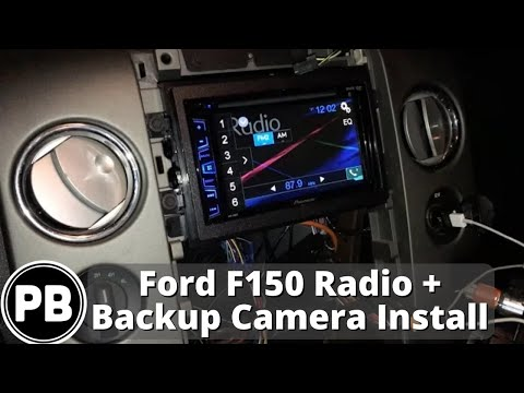 Wiring Diagram For A Pioneer Radio Dometic Penguin 2004 - 2008 Lincoln Mark Lt / Ford F-150 Stereo Install And Backup Camera Youtube