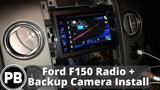 2004 2008 lincoln mark lt ford f 150 stereo install and backup camera