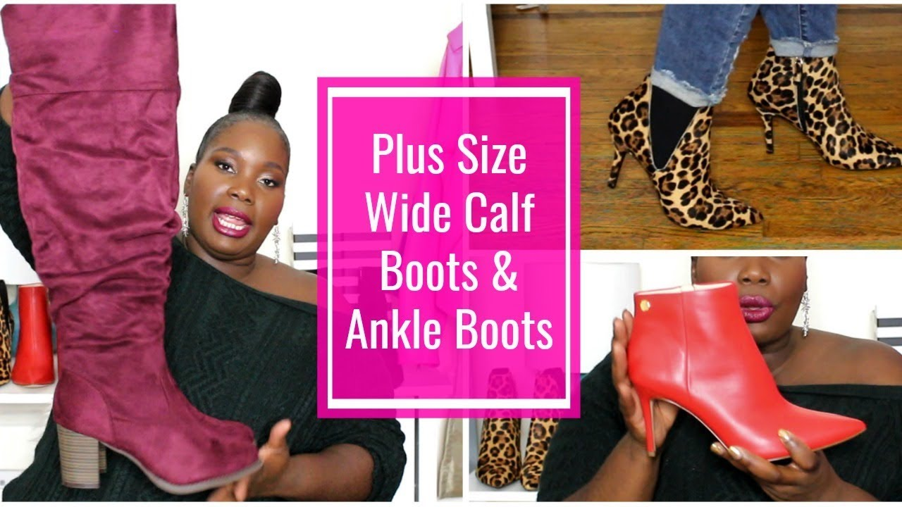 83a81dfdc34 Stylish Plus Size Wide Calf Boots & Ankle Boots 2018 - YouTube
