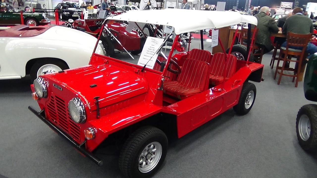 1967 austin mini moke exterior and interior classic expo salzburg 2016 youtube. Black Bedroom Furniture Sets. Home Design Ideas
