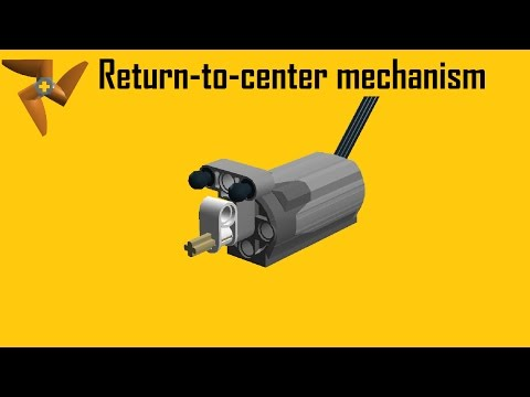 Lego Technic return-to-center mechanism with tutorial