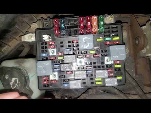 2003 Chevy S10 Starter Fuses & Relay, Fuel Pump Relay & Fuse Location