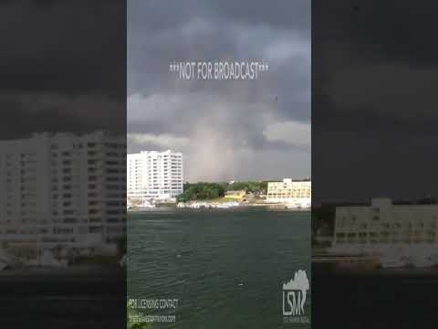 6 28 18 Destin, Florida Tornado Causes damage Along Beach