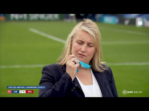 One of the biggest characters in football, Emma Hayes is in fine form after Chelsea secure WSL