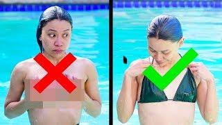 КАК ВАРИАНТ: Чтобы купальник не слетал! 25 САМЫХ ЖЕНСКИХ ПРОБЛЕМ И ИХ РЕШЕНИЯ