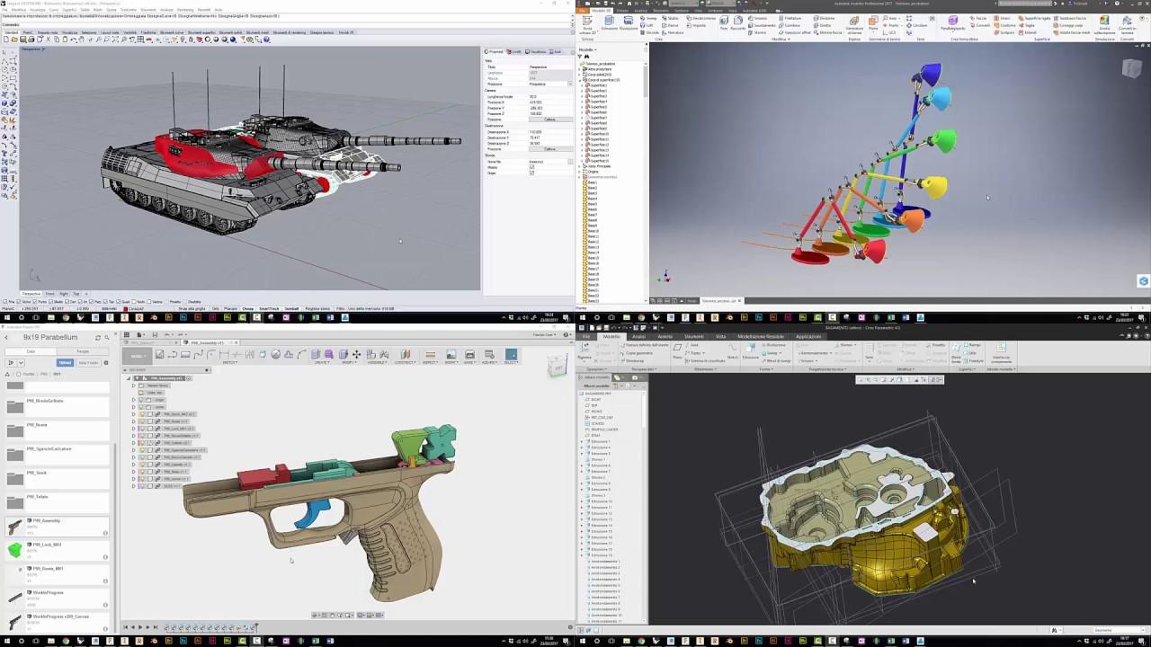 Differenza Tra Creo E Lube 3d cad battle: rhino vs fusion vs creo vs inventor - part2