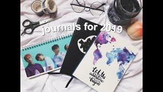 journals i'm using in 2019 📚 planner + travel journals | justine haley