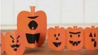 Paper Pumpkin Halloween Crafts For Kids