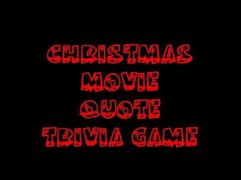 Christmas Movie Quotes Trivia Game
