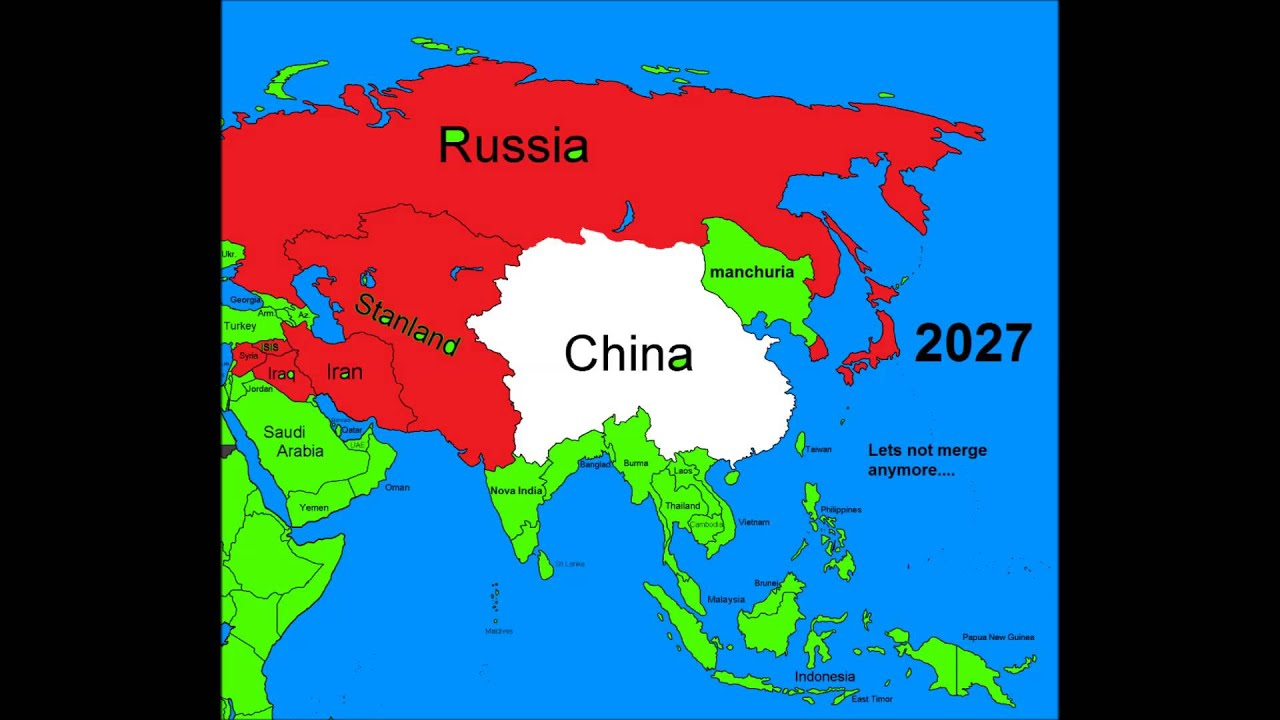 Alternate Future Of Asia Episode RussiaChina American War - Map of us and china