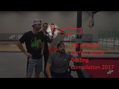 All of Dude Perfect Bottle Busting Compilation 2017