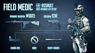 """""""Field Medic"""" : BF3 Assault Loadout & M16A3 Gameplay"""