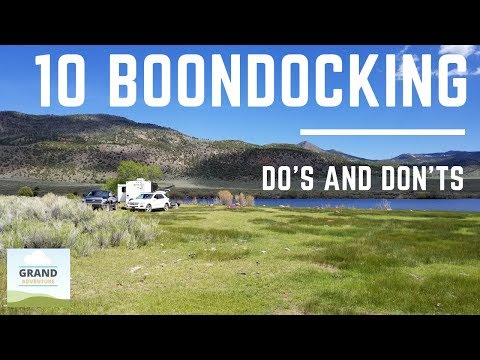 Ep. 84: 10 Boondocking Do's and Don'ts | RV camping tips tricks how-to etiquette