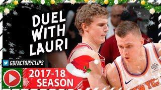 Kristaps Porzingis Full Highlights vs Bulls (2017.12.27) - 23 Pts, SICK Duel vs Lauri Markkanen!
