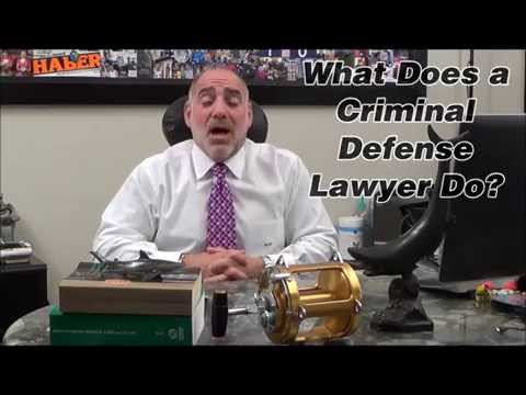 What does a Criminal Defense Lawyer Do? Michael A Haber PA Miami Criminal Attorney