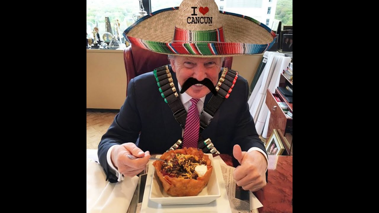 Image result for trump eating mexican food