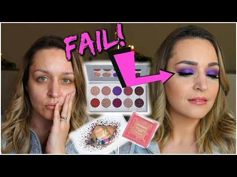 Trying NEW Makeup – Mostly Drugstore! Jaclyn Hill Bling Boss Palette Tutorial thumbnail