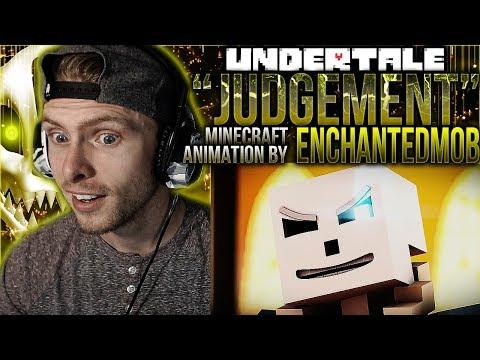 Vapor Reacts #656   MINECRAFT UNDERTALE SONG ANIMATION Judgement by EnchantedMob REACTION!!