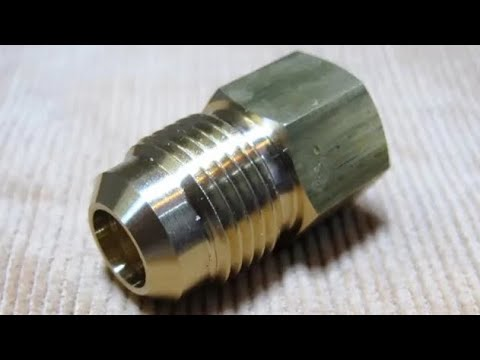 Brass Fitting made in benchtop cnc lathe
