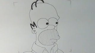 Aprende a dibujar la cara de Homer Simpson